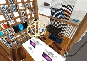 丽江古城设计工作室室内设计方案SU(草图大师)模型