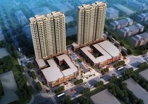 某新古典商业街 住宅SU(草图大师)精细模型