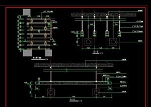 详细的木吊架素材设计cad施工图
