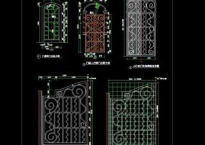详细的建筑门窗节点素材cad方案