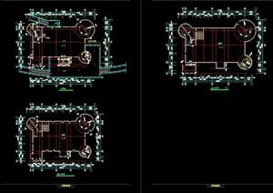 欧式风格城堡建筑设计cad方案图