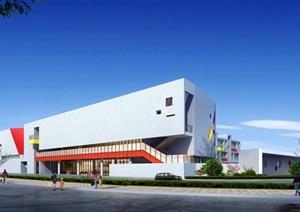 某大型幼儿园效果图全套建筑施工图