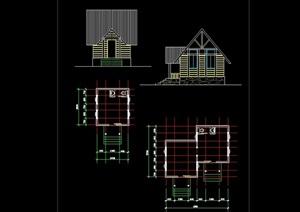 欧式风格单层公厕建筑设计cad方案