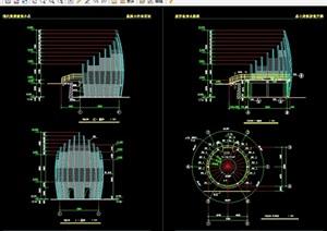 观景露台建筑设计cad施工图
