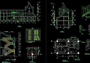欧式风格详细的完整饭店建筑设计cad施工图