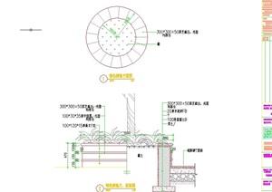特色圆形树池设计cad施工图