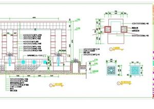 详细的独特园林景观廊架设计cad施工图