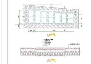 详细的完整汀步设计cad平剖面图