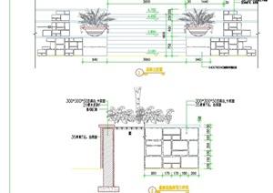 详细的完整花钵叠级花池cad施工图