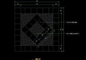 详细的完整铺装cad施工图
