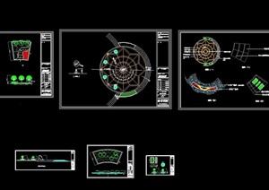 觀景平臺詳細完整設計cad施工圖