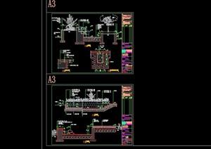 花池水池详细完整设计cad施工图