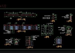 详细的护栏素材设计cad施工图