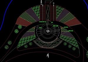 游船碼頭廣場設計cad方案