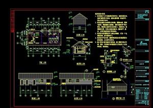門房詳細的設計cad施工圖