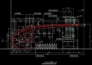 小區入口鋼結構cad施工圖