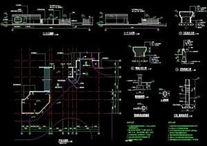 入口大門詳細的完整設計cad施工圖