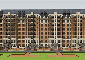 某新古典高层住宅11F 14f 18f  SU(草图大师)精细模型