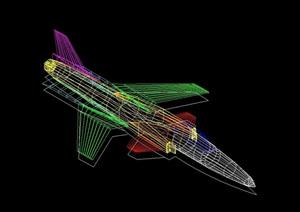 飞机素材设计cad方案