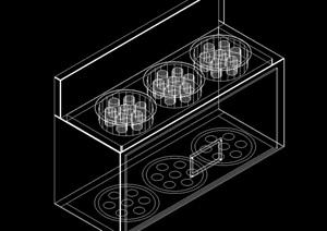 多種不同的室內廚具素材cad方案