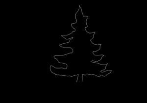 多种不同的详细cad立面树
