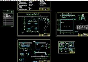 加油站详细建筑设计cad施工图