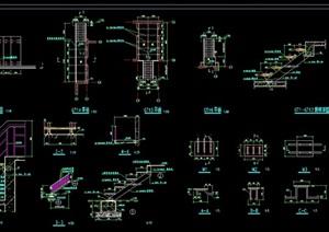 详细的建筑楼梯素材设计cad施工图