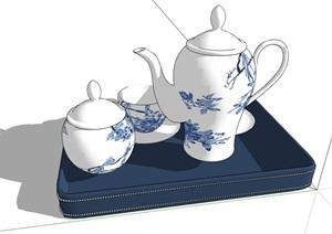 17種不同的茶具茶杯素材設計SU(草圖大師)模型