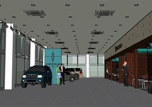 汽車售賣店室內展廳設計SU(草圖大師)模型
