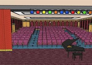剧院详细完整设计SU(草图大师)模型