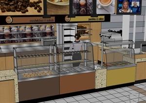 面包商店详细完整设计SU(草图大师)模型