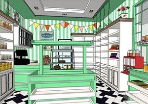 糖果店室內空間設計SU(草圖大師)模型
