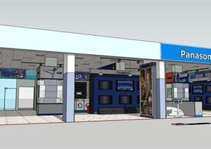 详细的专卖店展厅空间设计SU(草图大师)模型