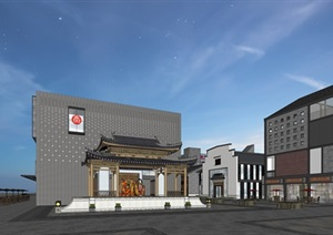 合肥包河区罍街改造现代中式商业街