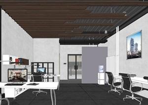 LOFT工作办公室空间设计SU(草图大师)模型