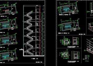 22个楼梯节点完整详细设计cad详图