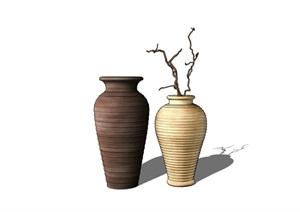 室內詳細的花瓶裝飾品素材SU(草圖大師)模型