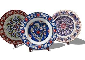 室內詳細的碗裝飾品素材SU(草圖大師)模型