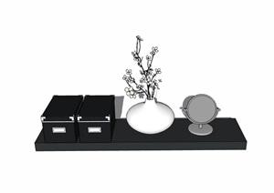 住宅室內詳細的裝飾品素材SU(草圖大師)模型