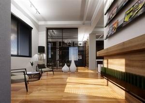 某办公空间室内设计SU(草图大师)精细模型