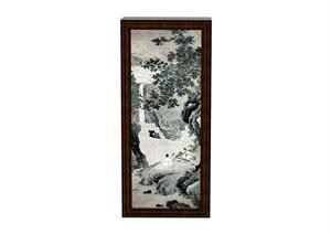 中式山水裝飾畫素材設計SU(草圖大師)模型
