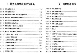 市政工程设计施工系列图集4  园林、景观工程pdf文本  (上、下册)