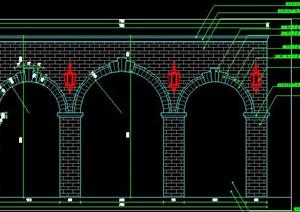 欧式法式英伦风格框景景墙施工图详图