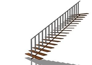 某室内详细的楼梯节点设计SU(草图大师)模型