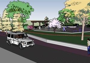 美麗鄉村生態公園健身廣場景觀節點方案設計三