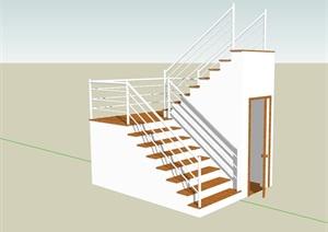 住宅室内完整的楼梯素材设计SU(草图大师)模型