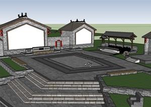 美丽乡村生态公园健身广场景观节点方案设计四