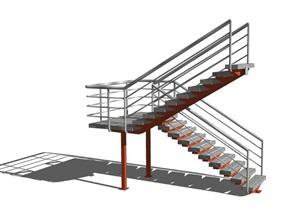 室内完整的楼梯节点素材设计SU(草图大师)模型
