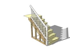 某现代室内楼梯素材设计SU(草图大师)模型