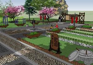 美麗鄉村生態公園健身廣場景觀節點方案設計六